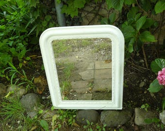 Mirror with frame painted antique white