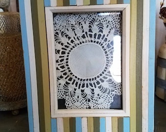 New Unique Farmhouse Rustic PICTURE FRAME-wall gallery-Distressed Frame 5 x 7 -shabby chic-home French Country Decor