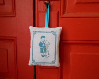 Hand - embroidered Lavender sachet boy