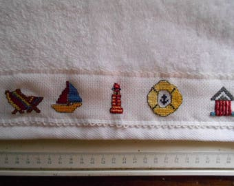 for embroidered guest hand towel