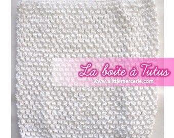 2/3/4/5/6 years stretch crochet tutu dress strapless white girl