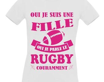 White t-shirt short sleeve 100% cotton B & C Exact 190 Rugby women