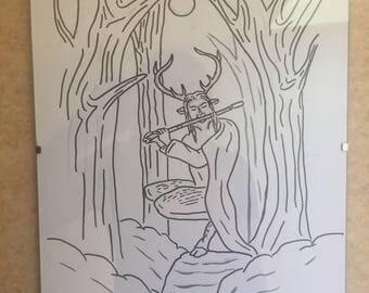 God Cernunnos Illustration