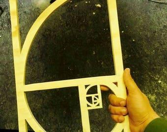 Fibonacci spiral (Hand made)