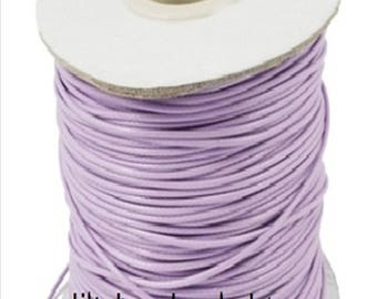 X 2 YARDS OF COTTON CORD WAX LILAC / PURPLE 1 MM
