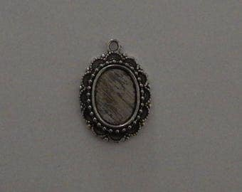 Silver medium cabochon 13 x 18 mm (SC038)