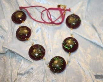 inclusion resin necklace