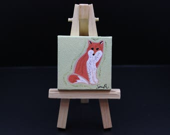 Miniature Fox Painting