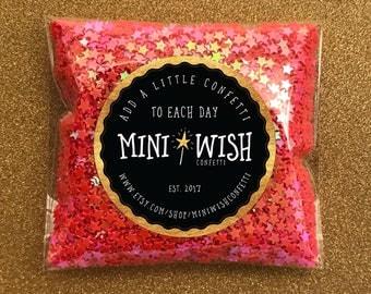 Mini Stars, Star Confetti, Iridescent Stars,Small Stars, Shiny Pink, 3mm Confetti,Pink Sequins, Nail Art, Shaker Card Filler, 14g