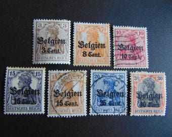 Set Of Old German Stamps 1916* OverPrint-SurCharged*MH,Used Mix*Partial Set*