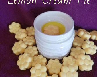 Lemon Cream Pie Scent - Soy Wax Melt - Hand Poured -Handmade - 6 Pack