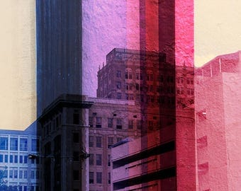 Double Exposure City Scape Art-Chitecture Prints