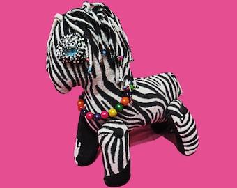 Horse zebra Soft toy plush animal gift