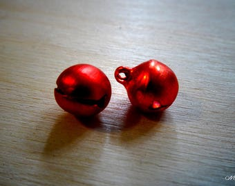Red Bell metal Indian Bell bead