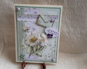 Shabby vintage style birthday card