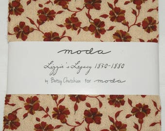 "Patchwork charm pack by moda - ""Lizzie's Legacy 1850-1880""."