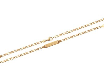 Plated mixed chain bracelet gold 16 cm / 63185616
