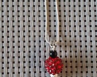 "Necklace ""Lipstick"" on a chain cord 51cm + 5.5 cm pendant"