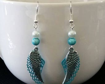 "Earrings ""Wings of the sky"" 6 cm"
