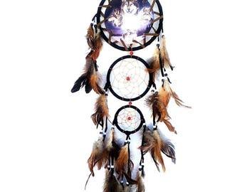 Catch dreams, dream catcher great wolves pattern designs