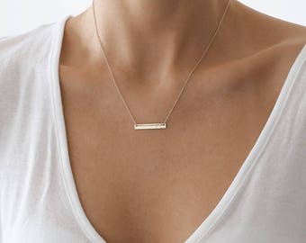 Classic bar Necklace, Gold Necklace, Layered Necklace, Bar Necklace, bar necklace gold