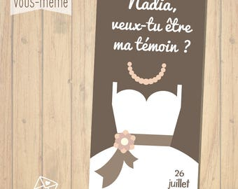 "Card ""Will you be my light"", wedding {to print yourself}"