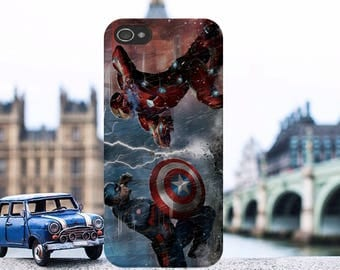 Captain America Marvel Comics Super Heroes Hard Plastic Phone Case Cover For iPhone and Samsung Models