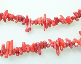 fine red coral beads