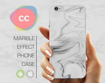 White Marble - iPhone 8 Case - iPhone 7 Case - iPhone X, iPhone 8 Plus, 7, 6, 6S, 5S, SE Cases - Samsung S8, S7, S6 Cases - PC-360
