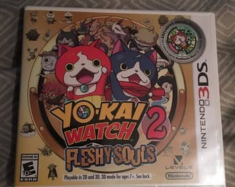 Yo-Kai Watch 2 Fleshy Souls / Nintendo 3DS Game *NEW / SEALED*
