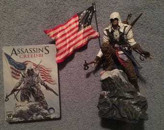 Assassins Creed 3 Special Ed Statue w Tin Case only & AC: Brotherhood Book VG