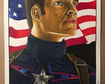 Print- Captain America