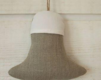 Door bell & tassel linen cushion