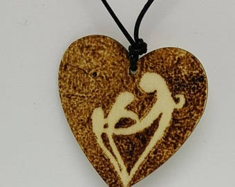 Motherhood, family, children, wooden pendant, pyrography, woodburning, all natural, jewelry, necklace, wood, nature