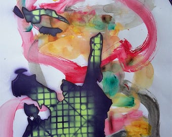 online Identity, Gay Scruff, Painting, Contemporary Art, Beard, Gay Art, Artwork