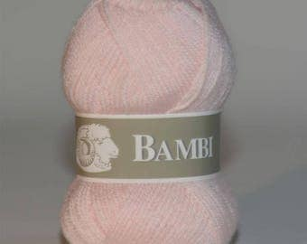 Ball of yarn Bambi special baby pink color
