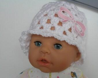 Beanie Baby Hat wool newborn to 3 months bob was