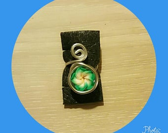aluminium with polymer clay Adjustable ring