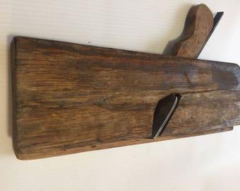 Vintage hand plane Carpenter tools Wood working tools Wood plane Rustic home decor Farmhouse decor Primitive tools