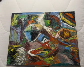 Abstract Mixed Oil Painting