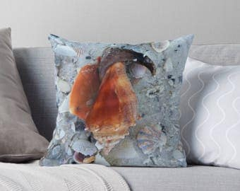 Nautical Seashell pillow cover