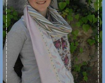 scarf/shawl scarf soft and lightweight patchwork to order