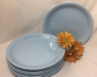 Salad Plates Homer Laughlin Skytone - set of 4