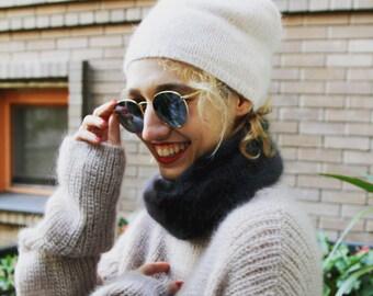 Angora knit hats