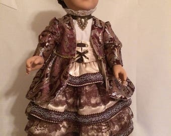 """Victorian 5 pcs set for 18"""" Dolls--Boots included."""