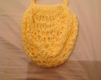 Yellow, practical, lightweight and stretchy net bag