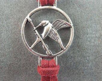 Burgundy bracelet Hunger Games