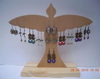 DISPLAY bird earrings wooden paint (C)