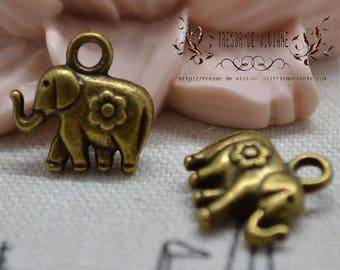 QDW095, bronze, Elephant pendant