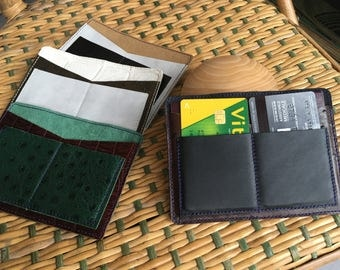 Card holder / Passport black camel
